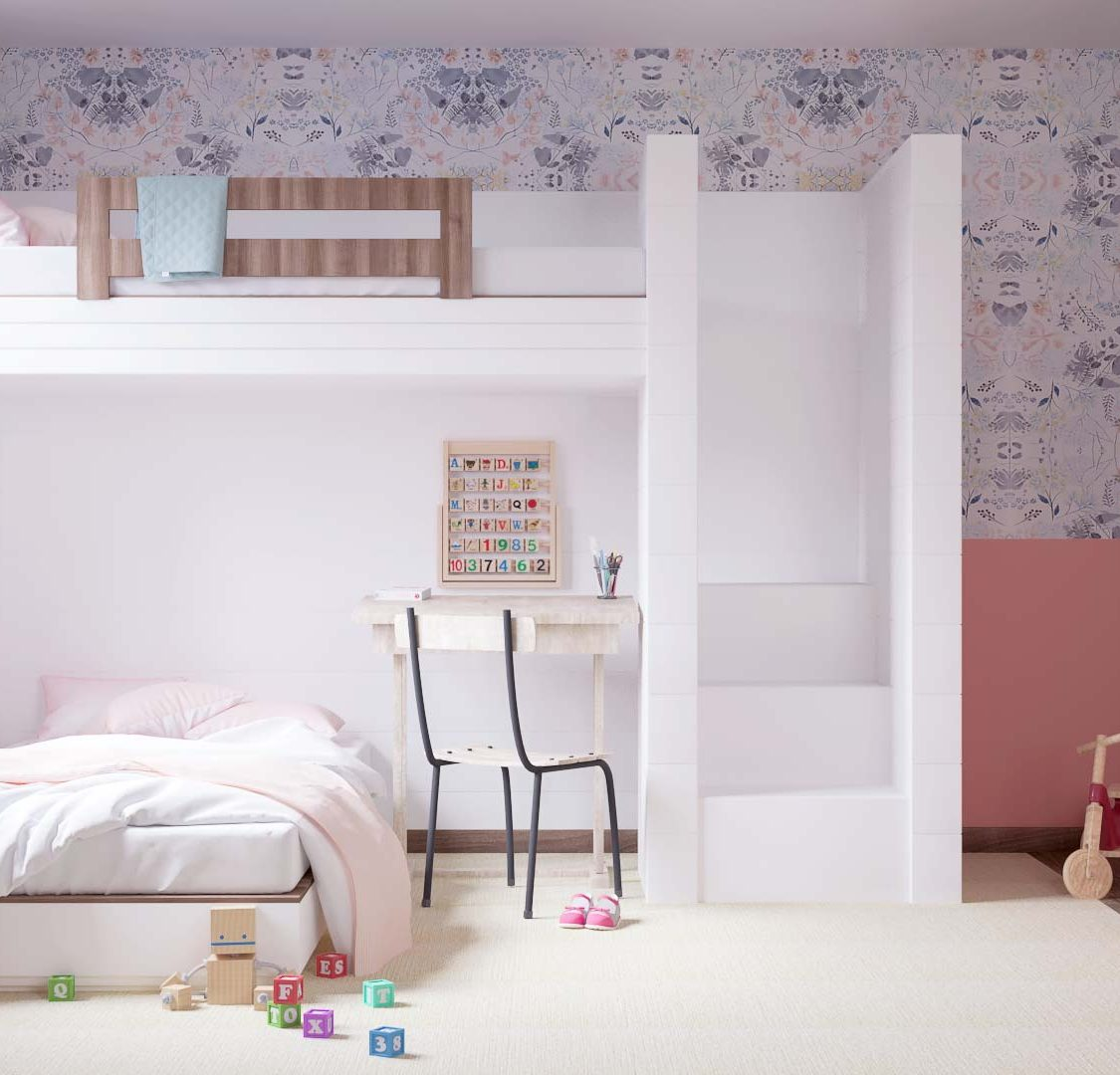 rendering kids room